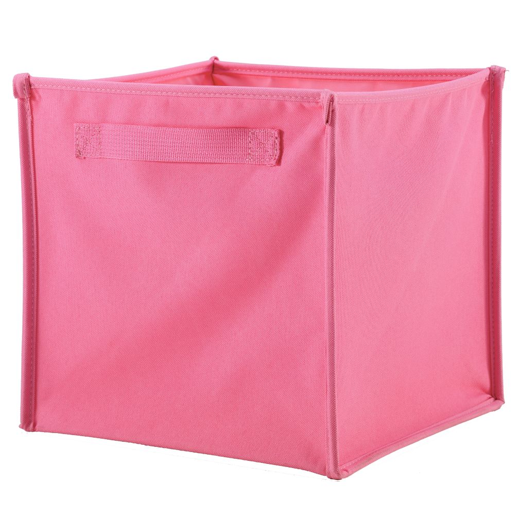 I Think I Canvas Cube Canvas Bin (Pink)
