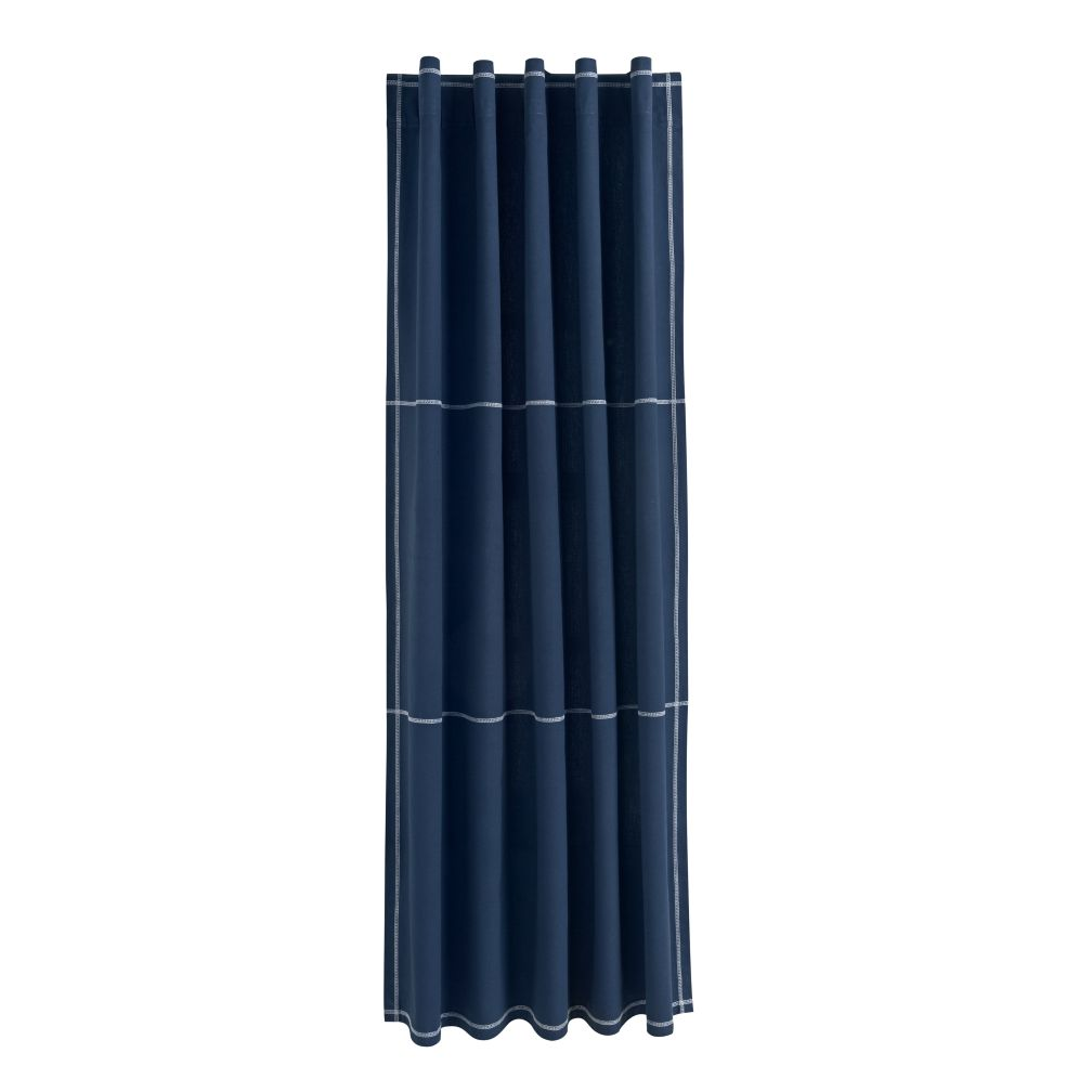 "63"" Canvas Curtain Panel (Blue)"