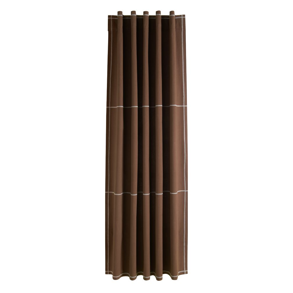 "63"" Canvas Curtain Panel (Brown)"