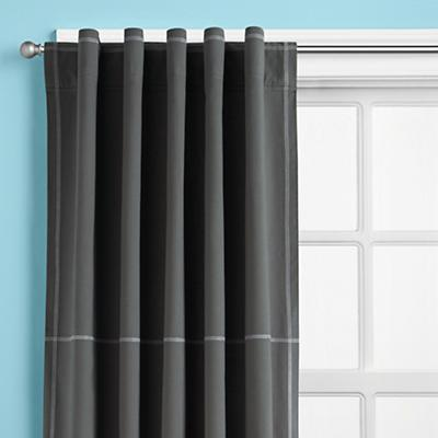 Canvas Curtain Panels (Grey)