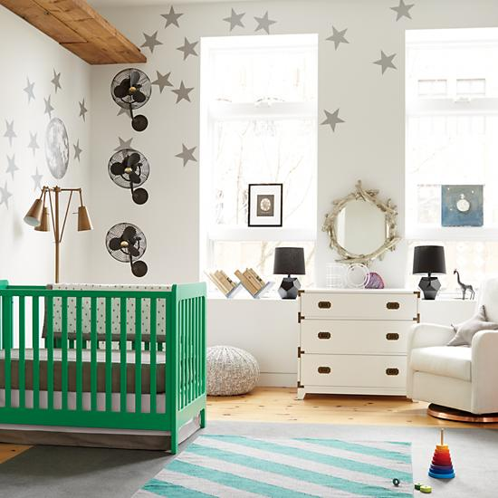Modern Wooden Carousel Baby Crib Kelly Green The Land