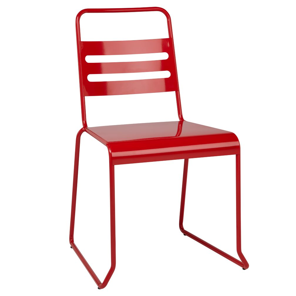 Homeroom Metal Desk Chair (Red)