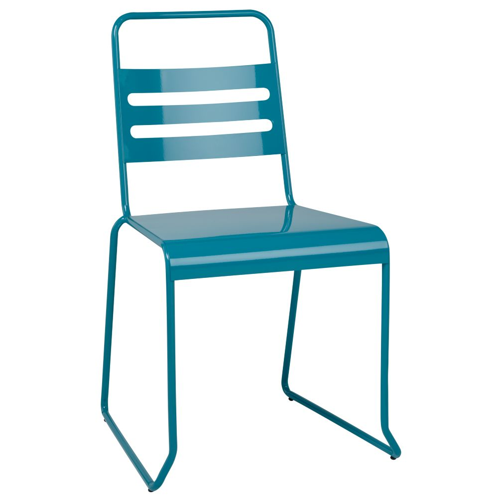 Teal Metal Desk Chair