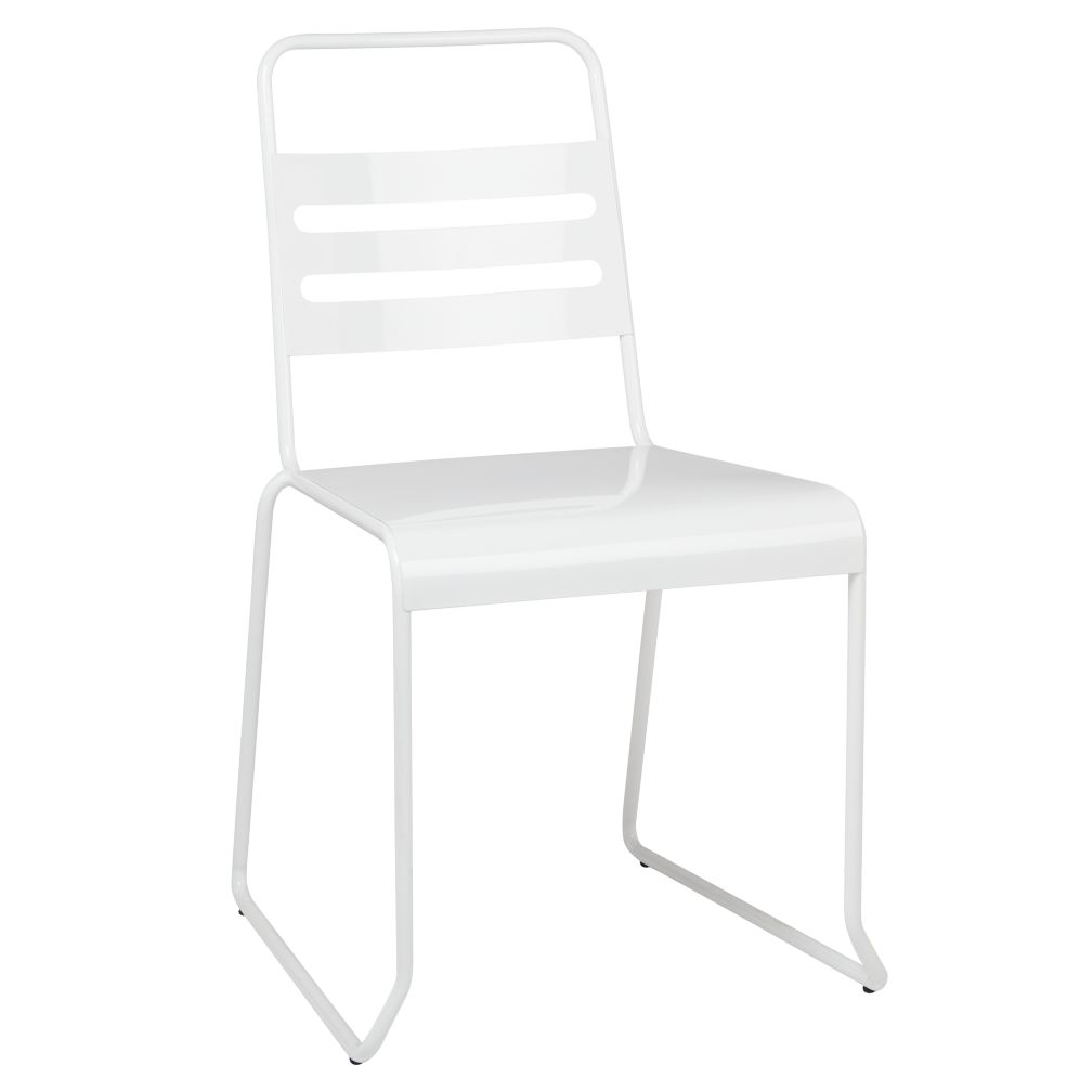 Homeroom Metal Desk Chair (White)