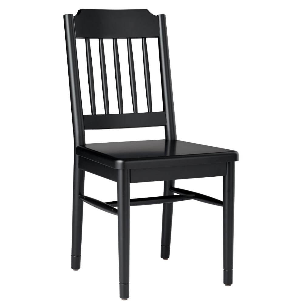 Flea Market Spindle Back Chair (Black)