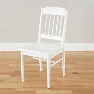 Flea Market Spindle Back Chair (White)