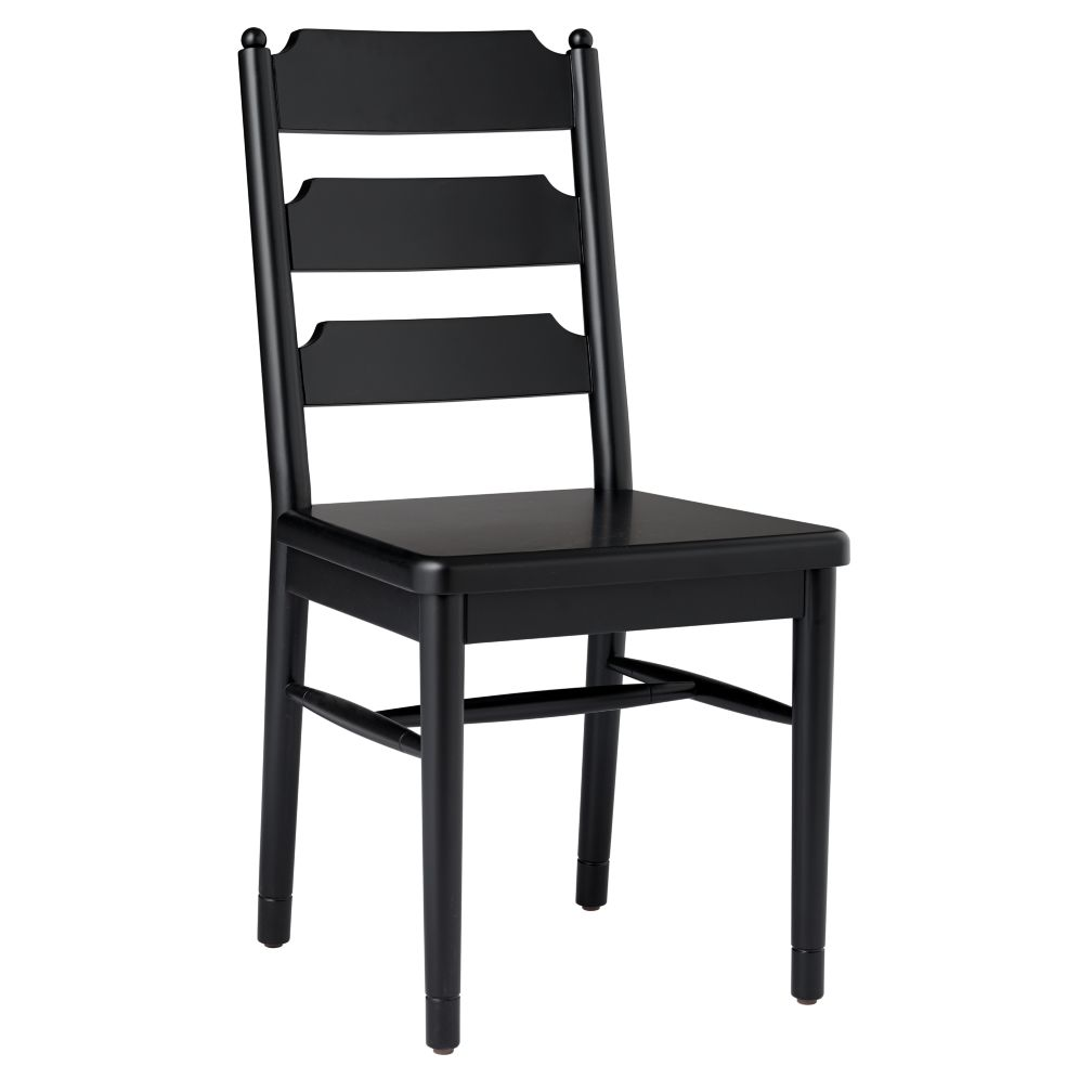 Flea Market Ladder Back Chair (Black)