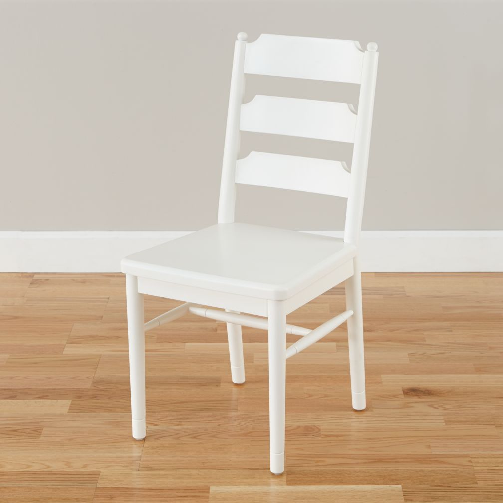 Flea Market Ladder Back Chair (White)