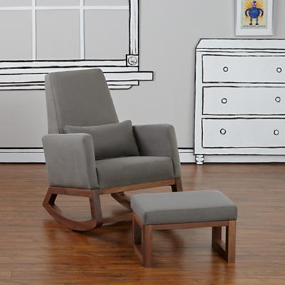 Joya Rocking Chair & Ottoman (Charcoal)