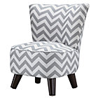 Grey/White Slipper Chair