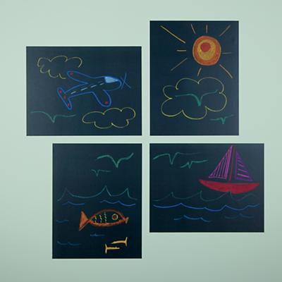 Chalkboard It Up Wall Decals (Set of 4)