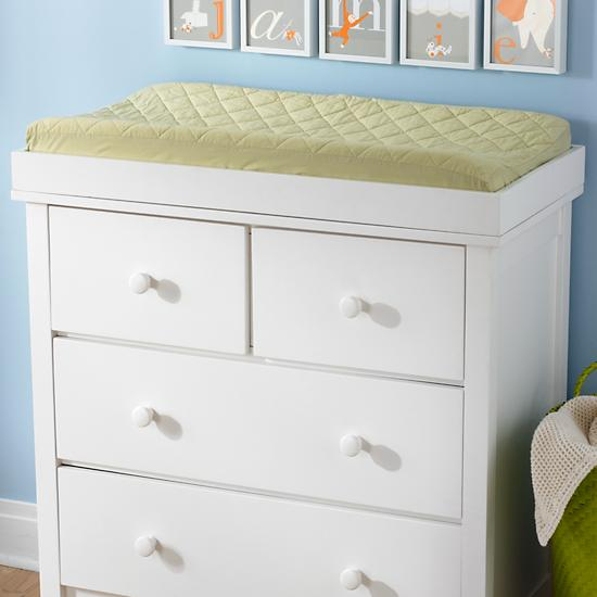 Baby Changers Baby Classic White Wooden Changing Top