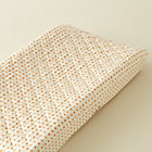 Orange Dot Changing Pad Cover