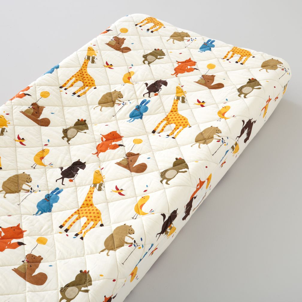 Bright Eyed, Bushy Tailed Changer Pad Cover (Animal Print)