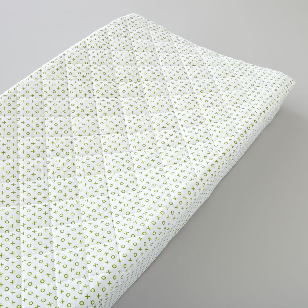 Changer Pad Cover (Green XO Print)