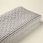 Khaki Stripe Changing Pad Cover