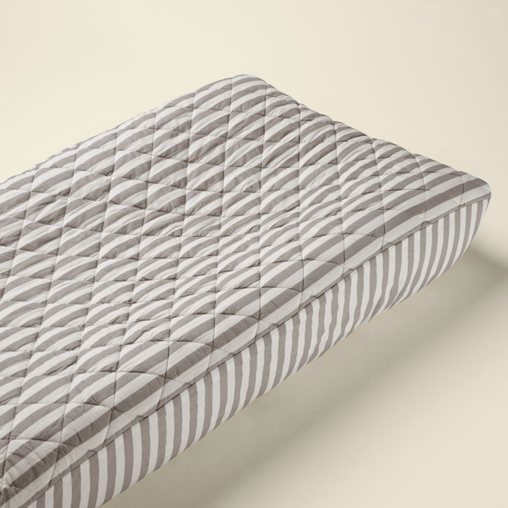Changer Pad Cover (Khaki Stripe)