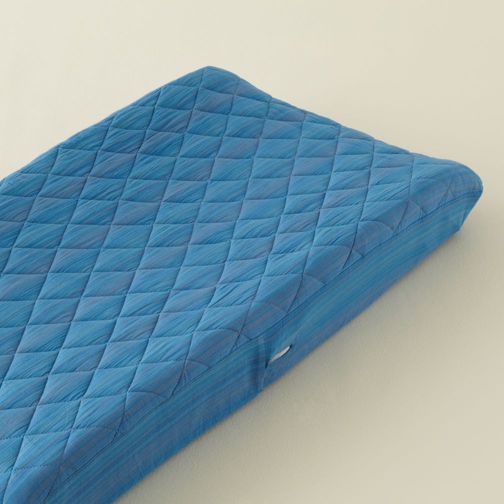 Blue Pick Stitch Changer Pad Cover