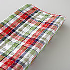 Blue Plaid Changer Pad Cover