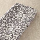 Grey Floral Changing Pad Cover
