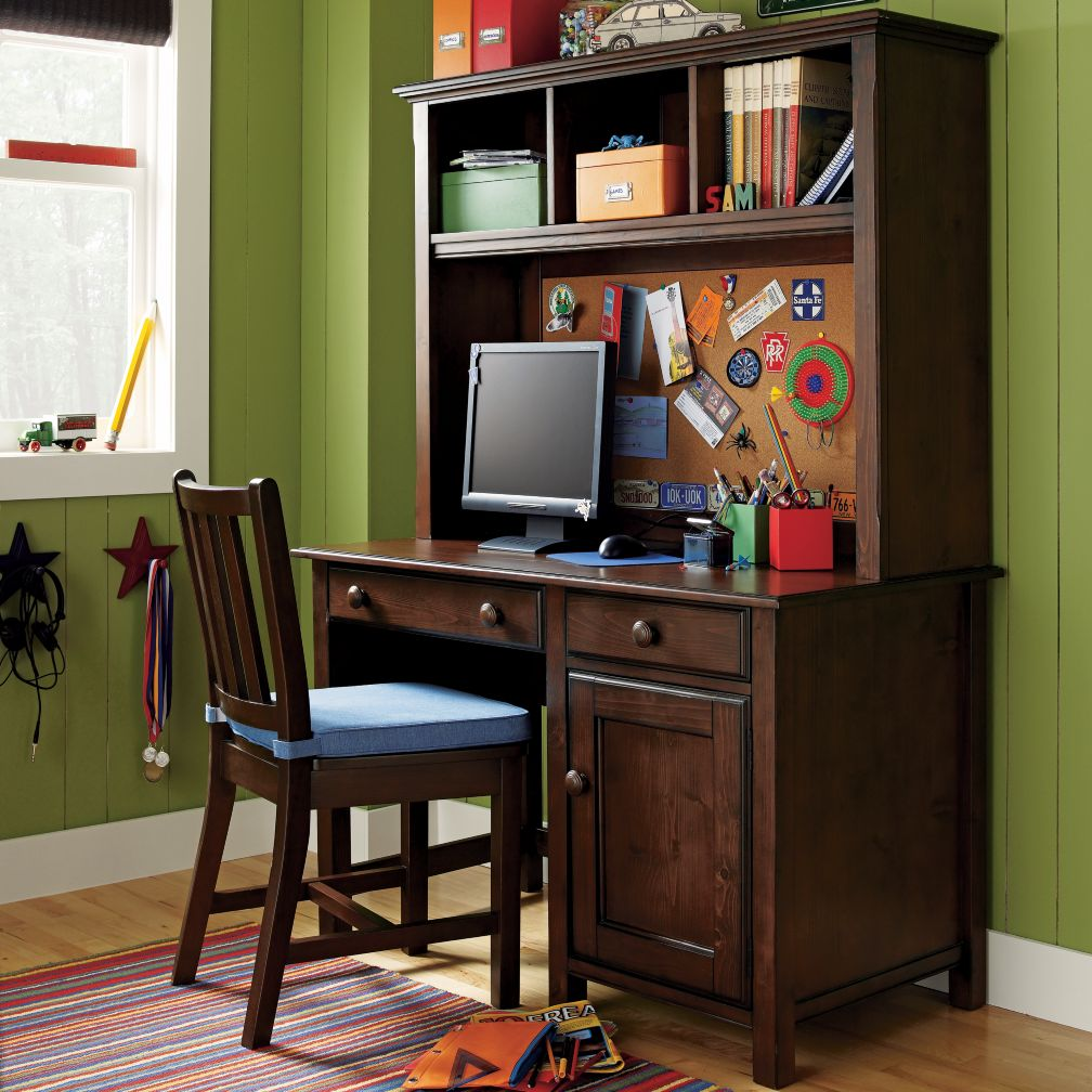Walden Desk & Hutch (Chocolate)