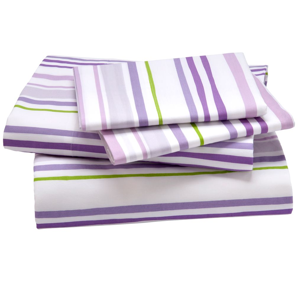 Citrus Stripe Sheet Set (Lavender)