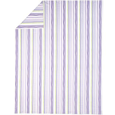 Full-Queen Citrus Stripe Duvet Cover (Lavender)