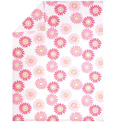Twin Pink Citrus Daisy Duvet Cover