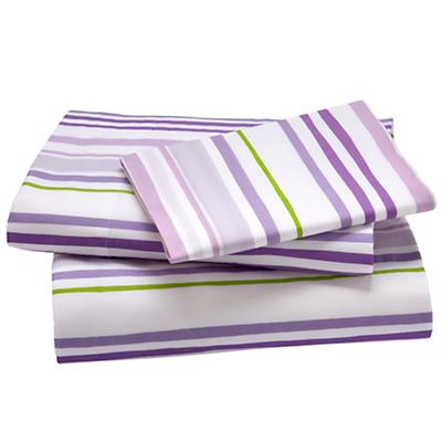 Twin Lavender Citrus Stripe Sheet Set