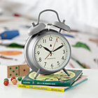 Grey Chime Alarm Clock