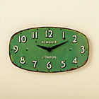 Green Shop Wall Clock