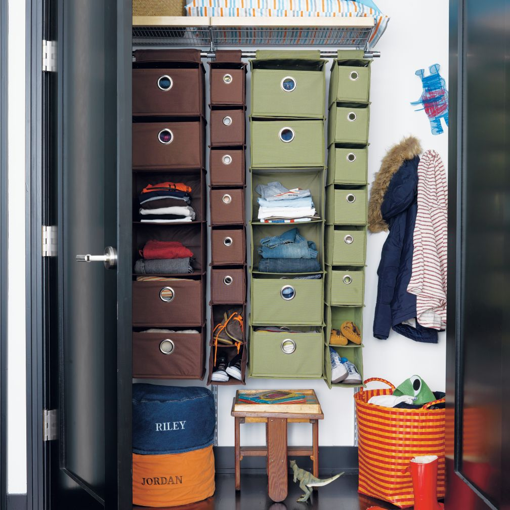 I Think I Canvas Hanging Closet Organizer (Brown)
