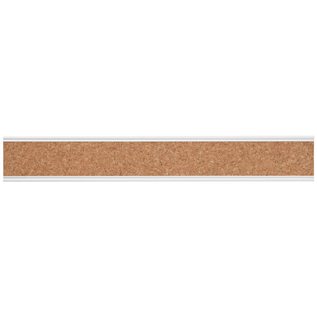Straight and Narrow Cork Rail (White)