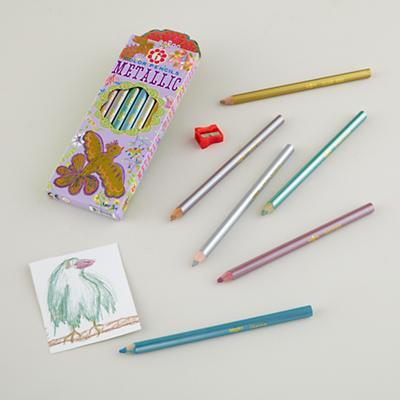 Metallic Bird Pencils (Set of 6)