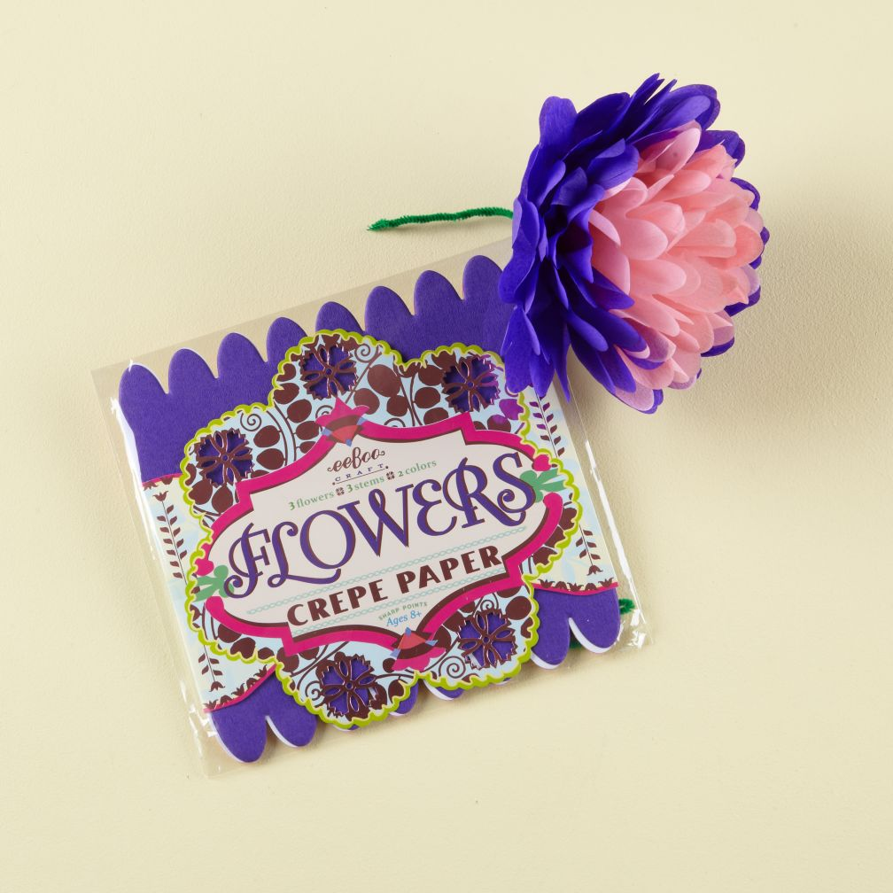 Eggplant Paper Flowers Kit