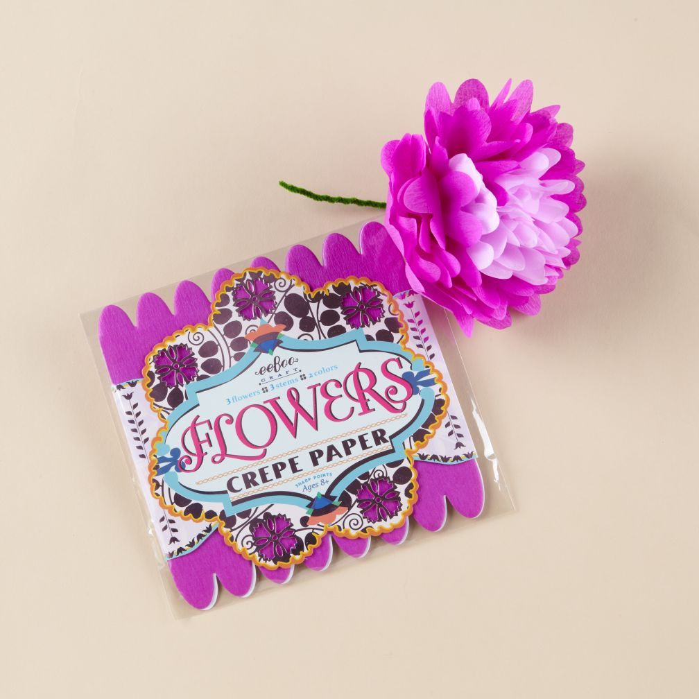 Purple Paper Flowers Kit