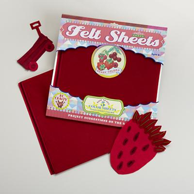 Berry Reds Felt Sheets Set