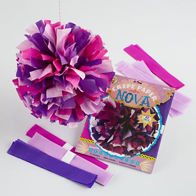 Purple Hanging Paper Blooms Kit