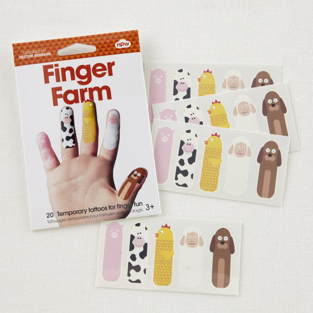 Farm Finger Tattoo Set
