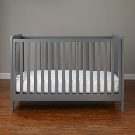 Modern Wooden Carousel Baby Crib Grey The Land Of Nod