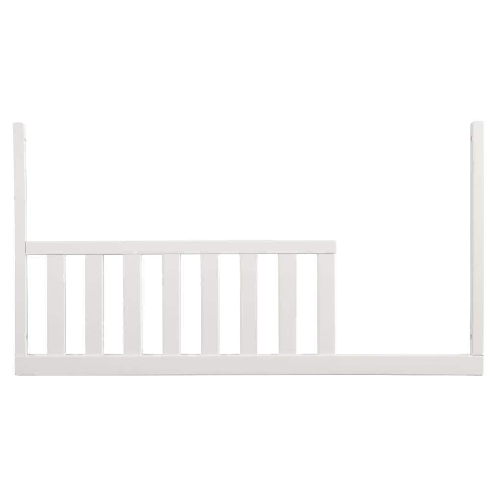 White Low-Rise Crib Toddler Rail