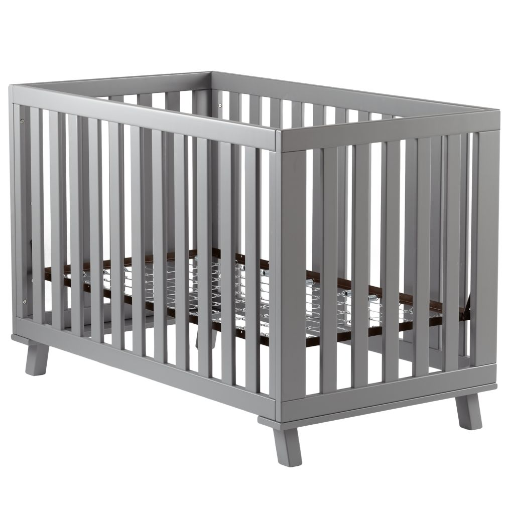 Grey Low-Rise Crib (Grey Frame and Grey Base)