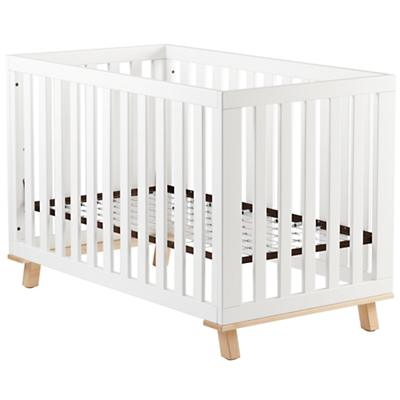 Low-Rise Crib (White Frame and Maple Base)