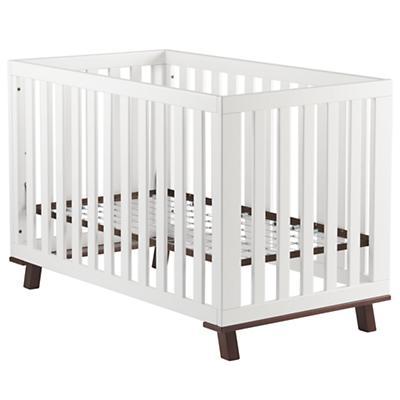 Low-Rise Crib (White Frame w/Espresso Base)