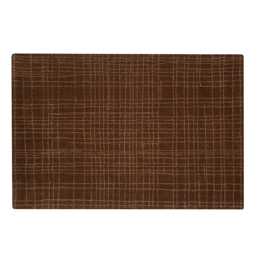 8 x 10&#39; Crosshatch Rug (Brown)