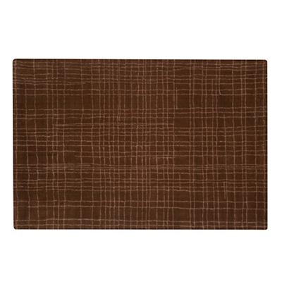 8 x 10' Crosshatch Rug (Brown)