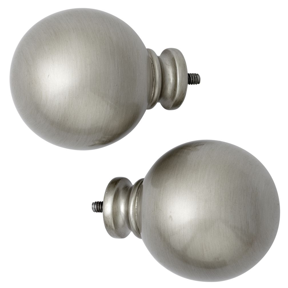 Nickel Ball Finials (Set of 2)
