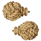 Rope Ball Finials (Set of 2)