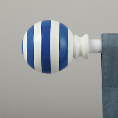 Blue Striped Ball Finials (Set of 2)
