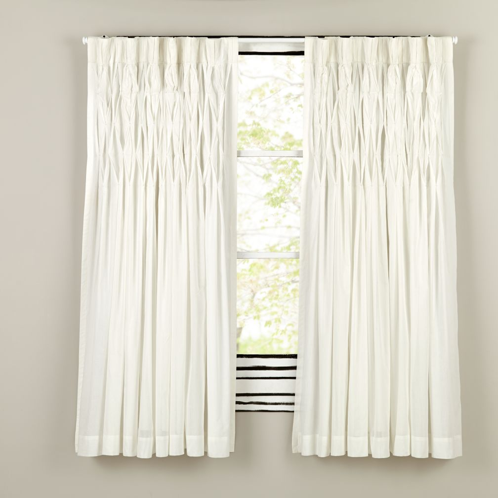 "63"" Antique Chic Curtain Panel (White)"